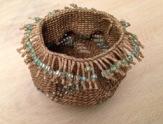 waxed linen, beads