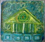 """Harmony - acrylic and mixed media on paper, 10"""" x 10"""""""