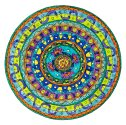 Gratitude. OK, there are lots of things that I would like to have or to change. But for the most part, I am truly grateful for my life and I most often feel fortunate beyond measure. But, of course, at times something will upset this beautiful balance, and I feel disconnected. Doing this mandala was a reminder of the lightness and sense of play that comes when I am feeling truly grateful. The imagery in the mandala is all about flow and reflects that peaceful, floating state of mind that comes with feeling blessed.